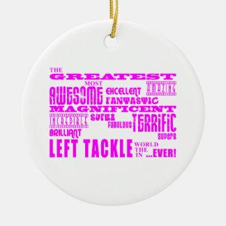 Fútbol de los chicas: Left tackle más grande Adorno Redondo De Cerámica