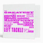 Fútbol de los chicas: Left tackle más grande rosad