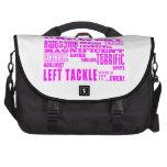 Fútbol de los chicas: Left tackle más grande rosad Bolsas De Ordenador