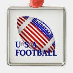 Fútbol de los E.E.U.U. (1) con el texto Ornamentos De Reyes Magos