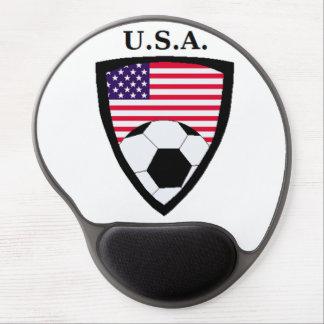 Fútbol de los E E U U Alfombrilla De Ratón Con Gel
