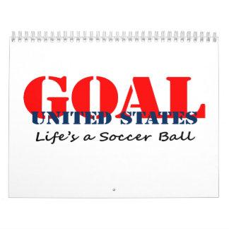 Fútbol de los E.E.U.U. Calendario De Pared