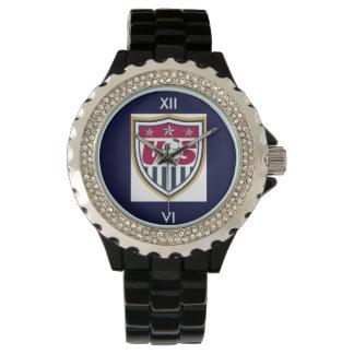Fútbol de los E.E.U.U. del diamante artificial Relojes De Mano