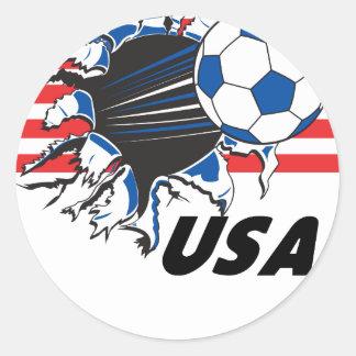 Fútbol de los E.E.U.U. del equipo Pegatinas Redondas