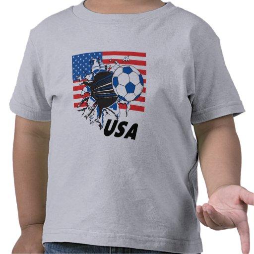 Fútbol de los E.E.U.U. del equipo Camisetas