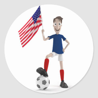 Fútbol de los E E U U Etiqueta