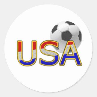 Fútbol de los E E U U Etiquetas Redondas