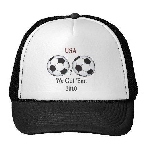 Fútbol de los E.E.U.U. Gorros Bordados
