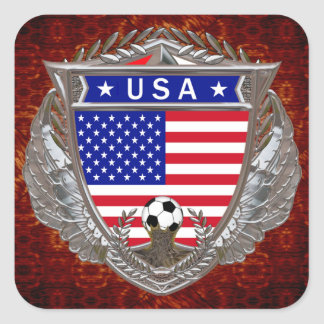 Fútbol de los E.E.U.U. Pegatinas Cuadradases Personalizadas