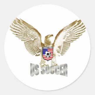 Fútbol de los E.E.U.U. Etiquetas Redondas