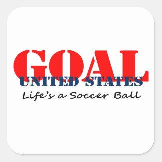 Fútbol de los E.E.U.U. Calcomania Cuadradas Personalizada