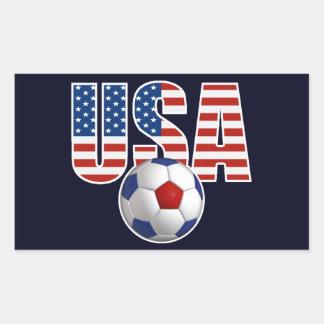 Fútbol de los E.E.U.U. Rectangular Pegatinas