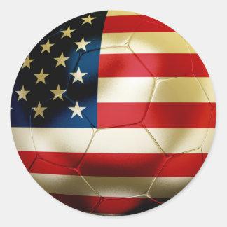 Fútbol de los E.E.U.U. Pegatina