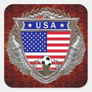 Fútbol de los E.E.U.U. Pegatina Cuadrada