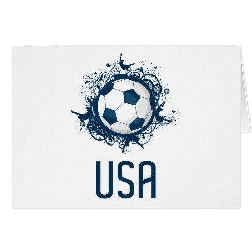 Fútbol de los E.E.U.U. Tarjeta De Felicitación