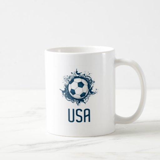 Fútbol de los E.E.U.U. Taza De Café