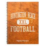 Fútbol de los engrasadores de Huntington Beach Libretas Espirales