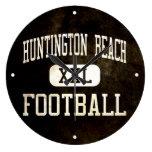 Fútbol de los engrasadores de Huntington Beach Relojes De Pared