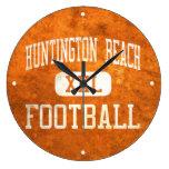 Fútbol de los engrasadores de Huntington Beach Reloj De Pared