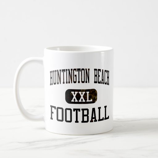 Fútbol de los engrasadores de Huntington Beach Taza De Café