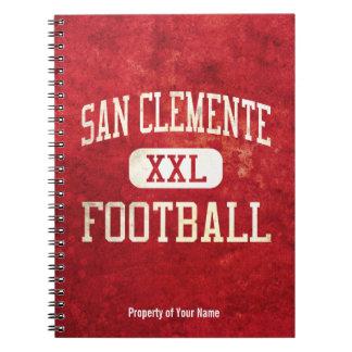 Fútbol de los tritones de San Clemente Libreta Espiral