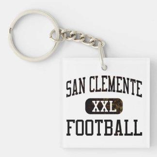 Fútbol de los tritones de San Clemente Llavero Cuadrado Acrílico A Doble Cara