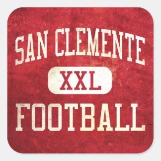 Fútbol de los tritones de San Clemente Calcomania Cuadradas Personalizadas