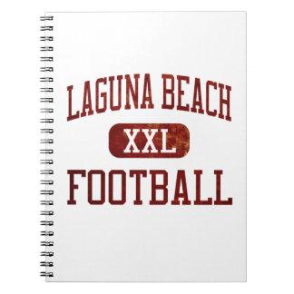 Fútbol de los trituradores del Laguna Beach Libretas Espirales