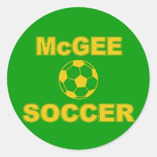 Fútbol de McGee Pegatina Redonda