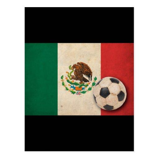Fútbol de México del vintage Tarjeta Postal