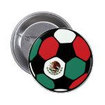 Fútbol de México Pin Redondo De 2 Pulgadas