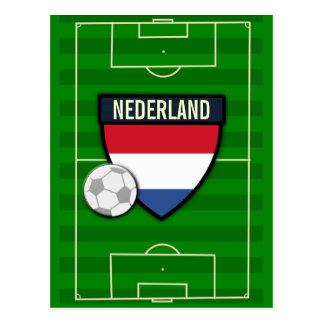 Fútbol de Nederland Países Bajos Tarjeta Postal