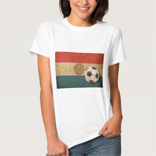 Fútbol de Paraguay del vintage Playera