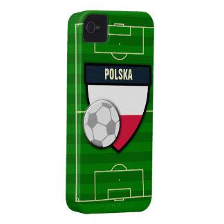 Fútbol de Polska Polonia iPhone 4 Case-Mate Fundas