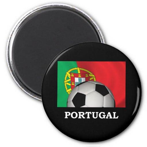 Fútbol de Portugal Imán Redondo 5 Cm