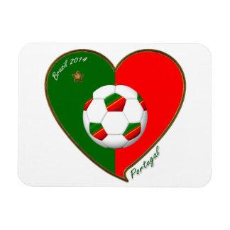 Fútbol de PORTUGAL Portuguese Soccer Team 2014 Imanes Rectangulares