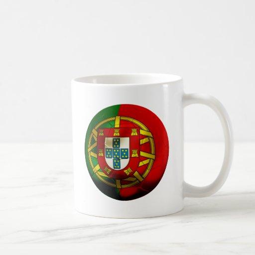 Fútbol de Portugal Taza Básica Blanca