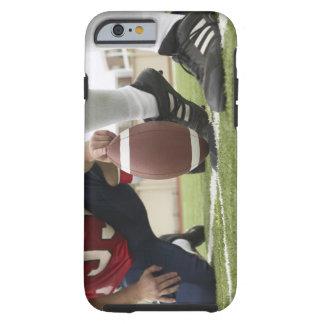 Fútbol de retroceso con el pie del futbolista funda resistente iPhone 6