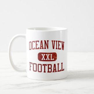 Fútbol de Seahawks de la vista al mar Taza Clásica