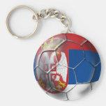 Fútbol de Serbia Llavero Personalizado