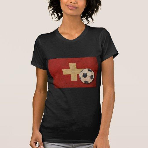Fútbol de Suiza del vintage Camiseta