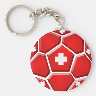 Fútbol de Suiza - mundial 2014 del Brasil Nati Llavero Redondo Tipo Pin