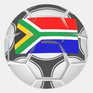 Fútbol de Suráfrica del equipo Pegatina Redonda