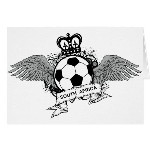 Fútbol de Suráfrica Tarjeta De Felicitación