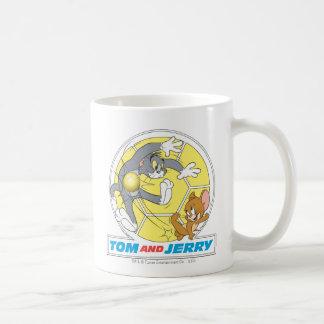 Fútbol de Tom y Jerry (fútbol) 8 Taza Básica Blanca