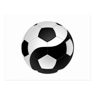 Fútbol de Yin Yang Tarjetas Postales