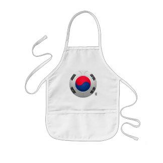 Fútbol del 대한민국 de la república de Corea Delantal