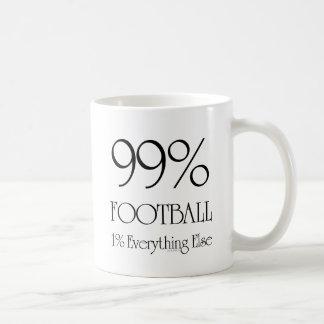 Fútbol del 99% taza básica blanca