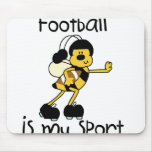 Fútbol del abejorro mi deporte alfombrilla de raton