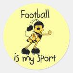Fútbol del abejorro mis camisetas y regalos del etiqueta redonda